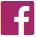 Donkerroze logo van Facebook